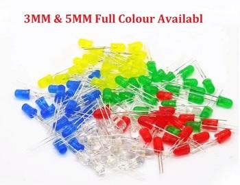 100 sztuk 3MM 5MM dip led czerwony żółty zielony niebieski ciepły biały high bright F3 F5 jakość koralik dioda elektroluminescencyjna tanie i dobre opinie YUFO-IC Nowy F3 3MM 4 3 3 V Przez otwór