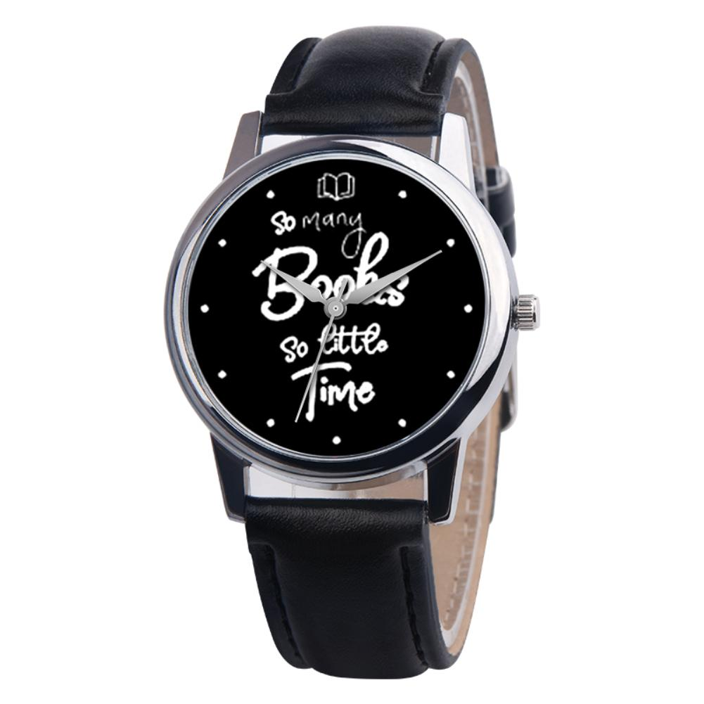 So Many Books So Little Time Lovers Faux Leather Quartz Wrist Watch Clock Gift