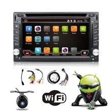 Quad Core 800*480 2 Din Android 6.0 Fit NISSAN QASHQAI Tiida Audio Car Stereo Radio GPS TV 3G WiFi dvd automotivo Universal DDR3