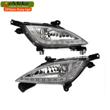 eeMrke Car LED DRL For Hyundai Elantra GT i30 2012 2013 High Power Xenon White Fog Cover Daytime Running Lights Kits