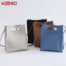 KEENICI Neue Einfarbig Koreanische Mode Retro Handtasche Schultertasche Der Groß Formel Messenger Handtasche Flut Kupplung Tote Bag Vintage-borse