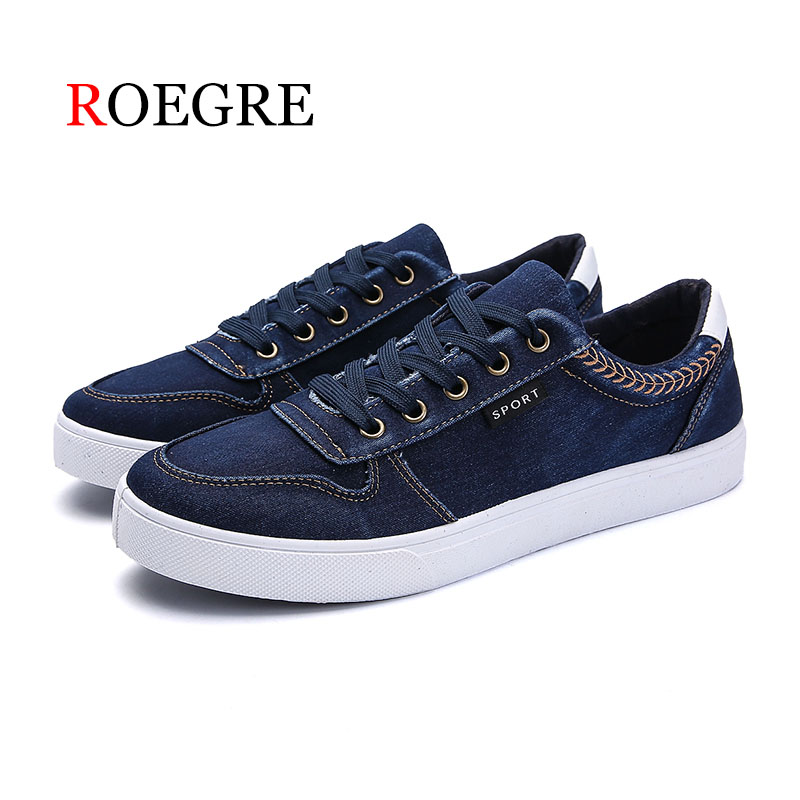 ROEGRE 2018 New Pop Men Fashion Casual Shoes Men Flats Shoes Breathable Lace-up Men Shoes Loafer Men Vulcanized Shoes Sneakers ...