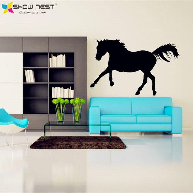 free shipping black horse vinyl stickers home decor (interior