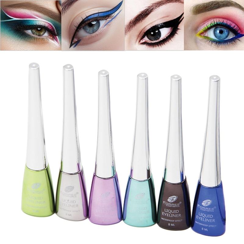 Farres Eye Makeup Colorful Liquid Eyeliner Waterproof Long Lasting
