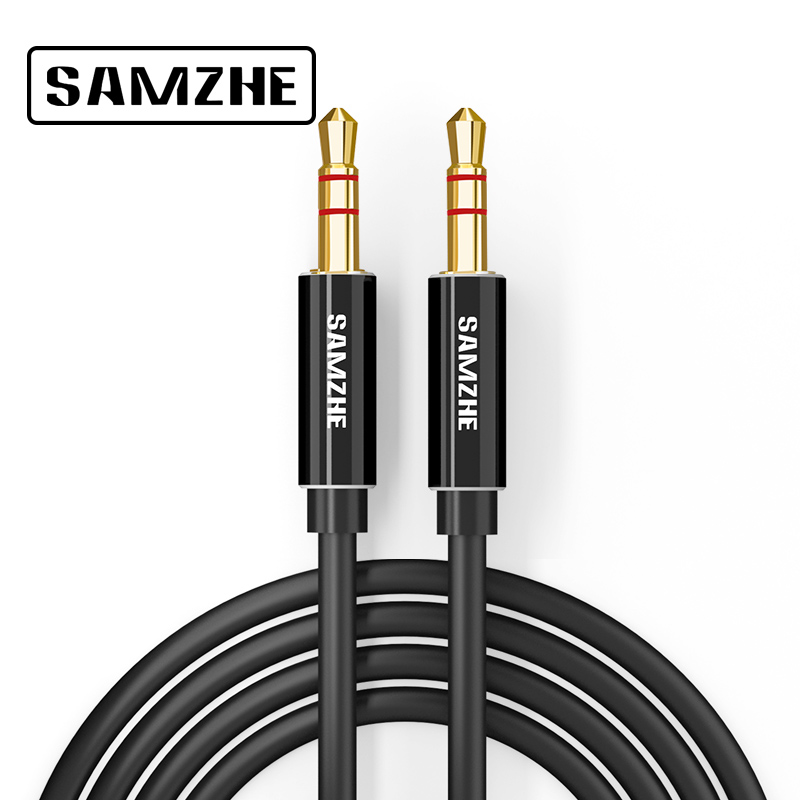 SAMZHE Jack 3.5 mm Aux Audio Cord Car Amplifier Aux Cable for Music Player Phone Headphone Laptop Map Navigation samzhe 3 5 mm audio extension cord aux cable extender male to female audio aux cord for headphone amplifier laptop music player
