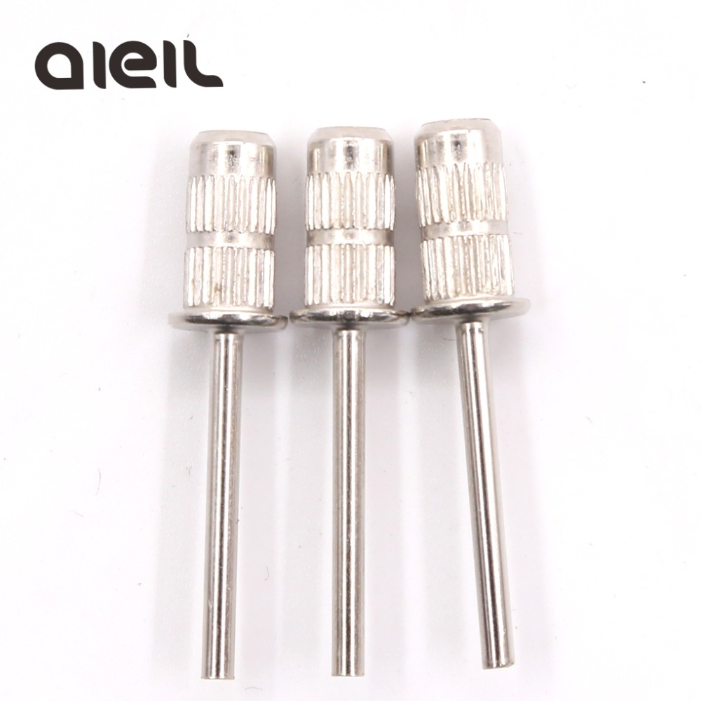 3PCS Nail Drill Bit Sanding Bands Mandrel Holder Cutter For Manicure Nail Sanding Caps For Pedicure Cutters For Pedicure Sanding