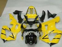 Лидер продаж, CBR900 929RR CBR929 00 01 тела комплект для Honda CBR929RR 2000 2001 черный и желтый мотоцикл Обтекатели (впрыска литье)