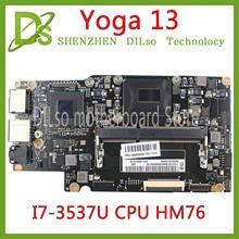 KEFU yoga13 mainboard For Lenovo Yoga 13 Yoga13 Laptop Motherboard FRU:90002034 With I7-3537/3517U CPU HM76 Test 100% original 48 4ub01 011 for lenovo u160 laptop motherboard mainboard with i7 cpu 100