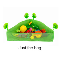 1PC Kids Baby Toys Organizer Sundries Storage Bag Hanging Mesh Net Container Polyester Bag With Four