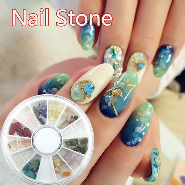 12 colors natural jade gravel rhinestone nail art crystal stone 12 colors natural jade gravel rhinestone nail art crystal stone japanese style nail art slices diy prinsesfo Image collections