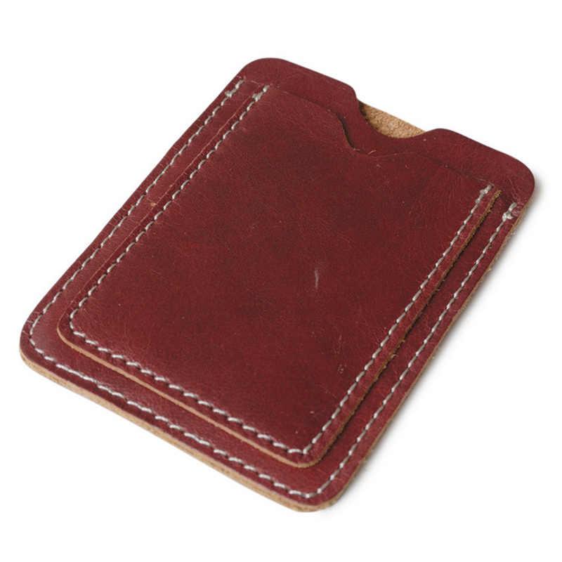 Delicate Magro Verdadeira carta De Condução de Couro do Bolso Cartão de Crédito Bancário caso Fina Dinheiro Homens Carteira Cartão Pacote de Cartões de Cartões de Dinheiro titular