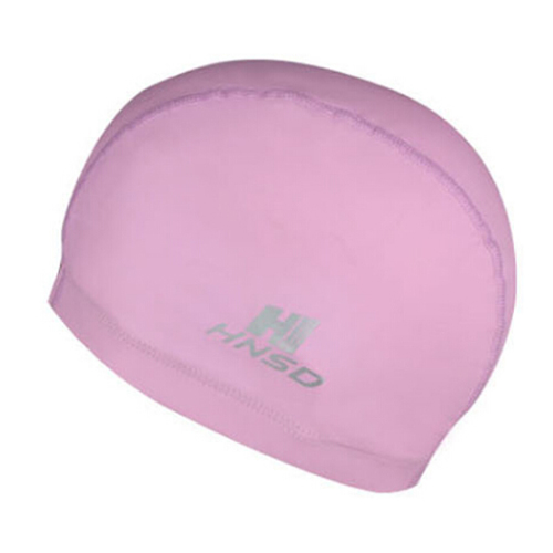 HNSD PU Cover Protect Ear Long Hair Waterdrop Swimming Caps Pink ...