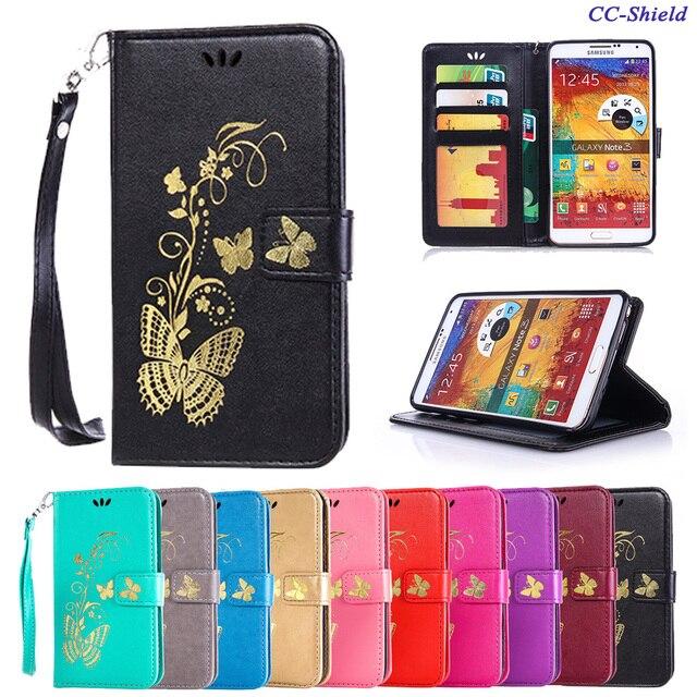 Flip Case for Samsung Galaxy Note 3 SM-N900 SM-N9005 Butterfly Phone Leather Cover for Samsung Galaxy Note3 SM N900 N9005 case