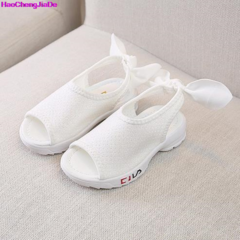 HaoChengJiaDe Hot Sale New Fashion Children Sandals Kids Girls Sequin Sandals Summer Boys Girl Pink Sandals Shoes Size 26-30