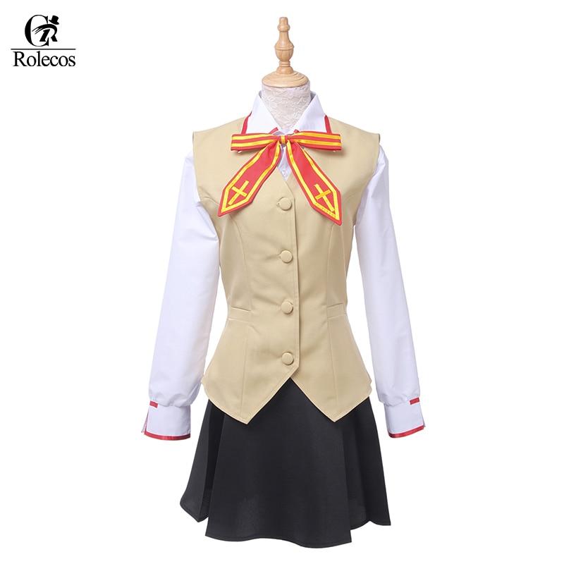 Anime Fate//Stay Night Rin Tohsaka Uniform Dress Skirt  Halloween Cosplay Costume
