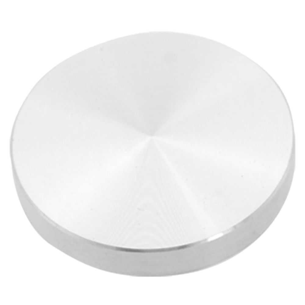 Plaque de verre adaptateur pied de table, aluminium, rond, 50x8mm, argentPlaque de verre adaptateur pied de table, aluminium, rond, 50x8mm, argent