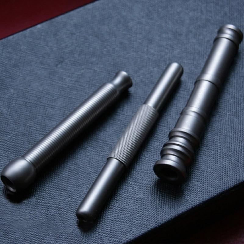 En plein air EDC créatif à la main en alliage de titane couteau perles étui à cigarettes filtre Camping en plein air Portable outils fumer tuyau - 4