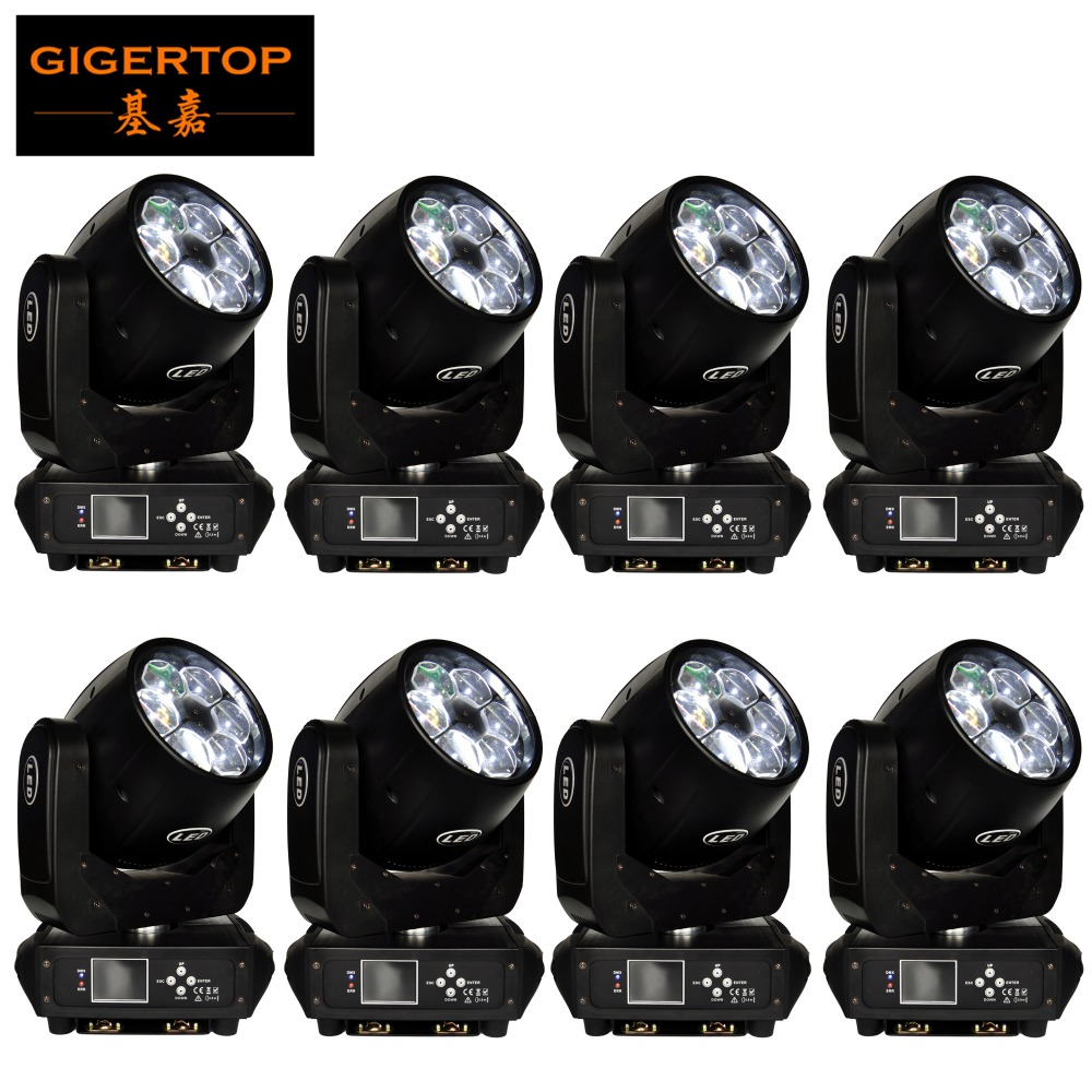 China Led Stage Lighting 8 Pack 6x40W 4in1 Mini Bee Eye Zoom Led Moving Head Light wash/beam/gobo/effect mode Full Color Display stackable 4in1 flightcase pack 350w big bee eye led par light zoom rotation colorful stage par cans plastic cover lcd display