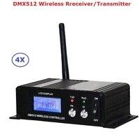 4 birim 400M etkili DMX512 kablosuz verici alıcı DMX512 aydınlatma kumandası verici ve alıcı 2IN1 tekrarlayıcı