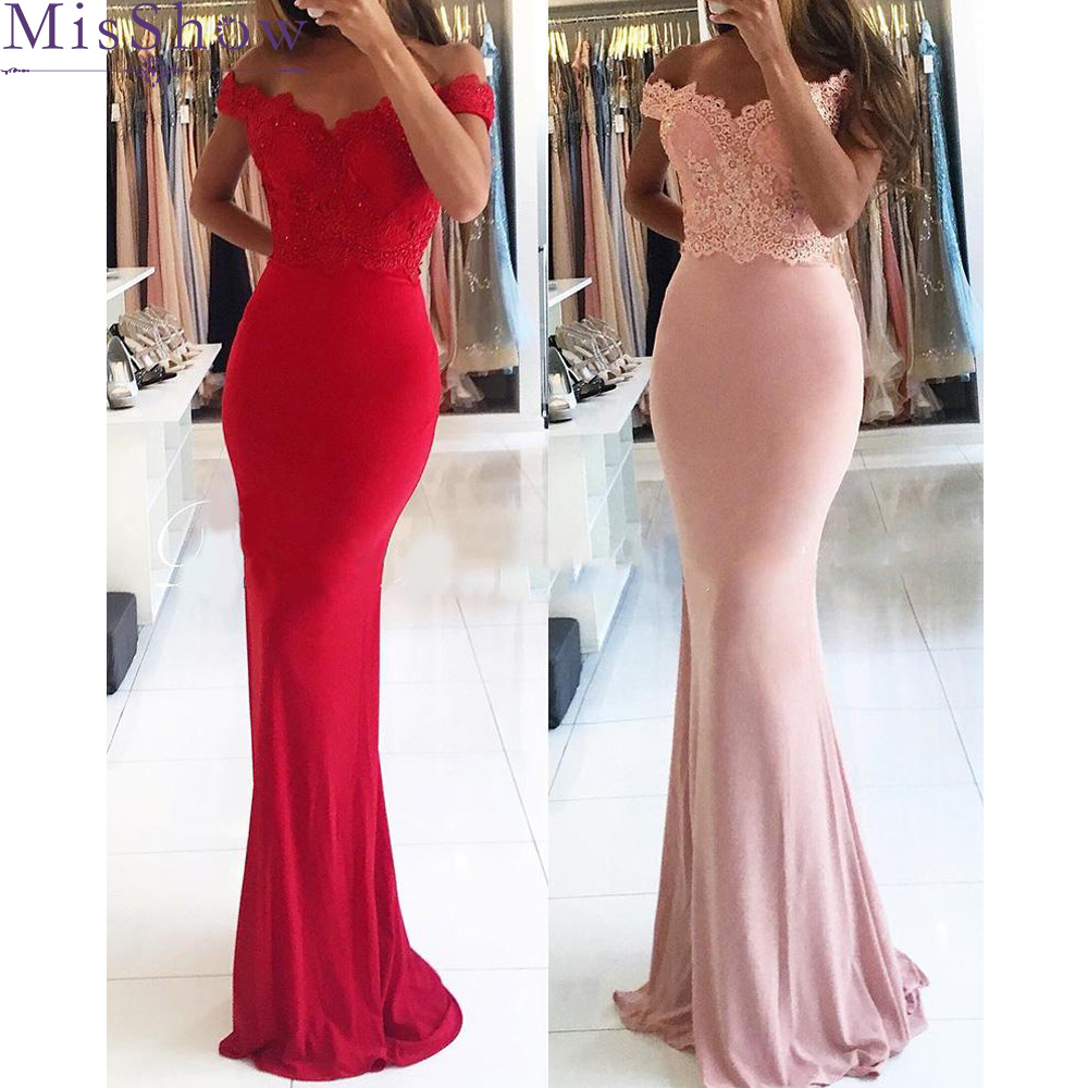 New Arrival Pink Red Green Appliques V Neck Cap Sleeve Chiffon Beaded Mermaid   Bridesmaid     Dresses   Party Gowns Vestido De Festa