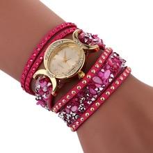 2017 Luxury Women's Bracelet Watches Oval Fashion Casual Ladies Dress Watches Diamond Rose PU Leather Band Quartz Wristwatches