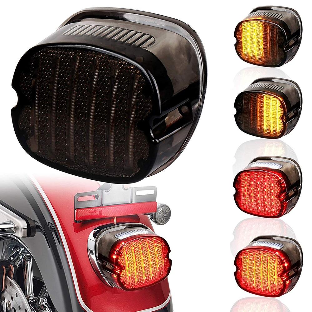 Details about  /Smoky Rear LED Rear Running Lamp Brake Taillight For Harley FLHT FLST FXST FXD