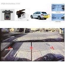 Автомобильный мульти-вид автомобиля резервного копирования HD 180 градусов вид спереди+ сзади визуальный парковочный монитор камера для 12 В автомобиля Стайлинг парковочный детектор