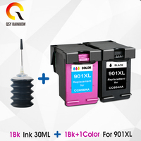 CMYK SUPPLIES 901 compatible Ink Cartridge Replacement for HP 901 XL 901XL Officejet 4500