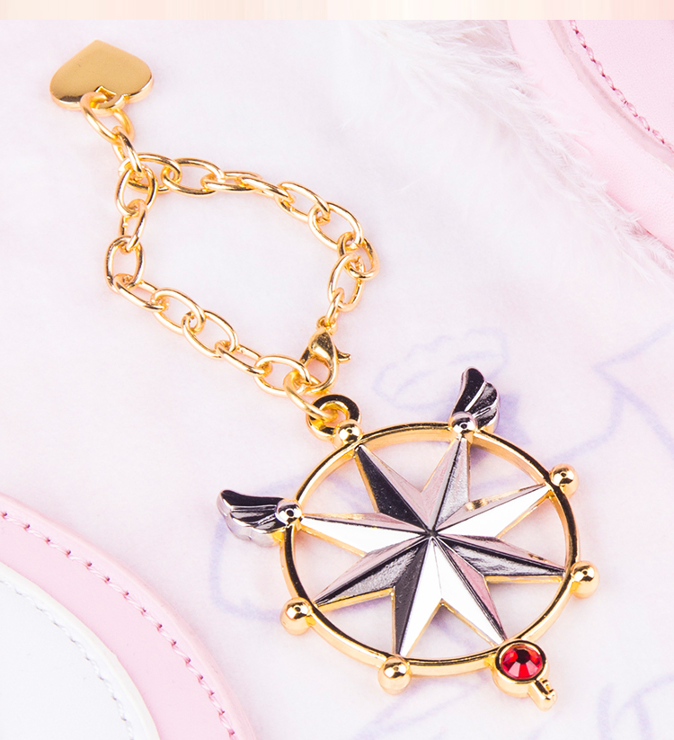 New Anime Card Captor Sakura Sailor Moon Clear Card Magic Wand Pendant Keychain Keyring Alloy Bracelets Phone Bag Pendant