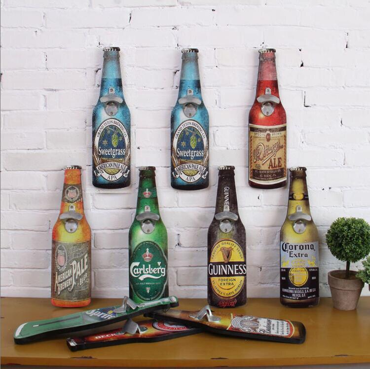 Bouteille ouvre Américain rétro bouteille de bière ouvreur creative Bar Restaurant mur tentures artisanat barware 40 cm