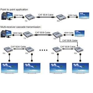 Image 3 - 4K HDMI Extender Adapter IR Sender Zu Empfänger 120m durch KATZE Kabel Netzwerk UTP Buchse, 1TX zu NRXs Für HDTV Kostenloser Versand