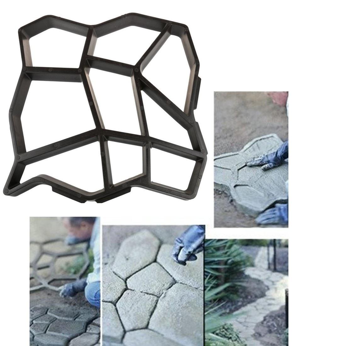 1 Pcs BRICOLAGE En Plastique Chemin Maker Moule Manuellement Pavage/Ciment Brique Moules La Pierre Route Auxiliaire Outils Pour Jardin décor