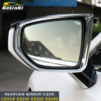GELINSI ABS Car Rearview mirror visor Trim Car Exterior Accessories Fit for Lexus ES200 ES300 ES260 Auto Car styling