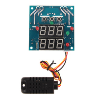 12V Intelligent Temperature Humidity Controller Relay Thermostat AC DC Capacitive Temperature And Humidity Integrated Sensor