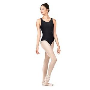 Image 5 - AOYLISEY body de Ballet réservoir noir pour femmes, léopard de danse, Scoop, cou, gymnastique, slim, Costumes de scène