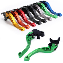цена на Short Motorcycle Brakes Adjustable Clutch Brakes Levers For KAWASAKI ZX-9R 2000-03 ZX-10R 04-05 ZX-12R 2000-05 Free Shipping D25