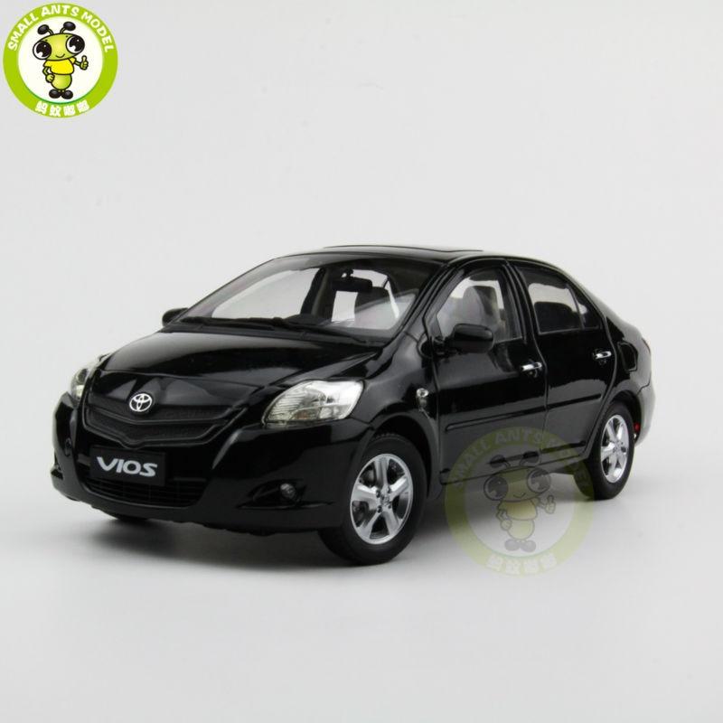 цена на 1:18 Toyota Vios 2008 Diecast Car Model Black Color