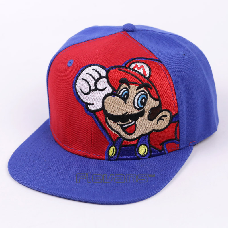 Super Mario Bros Fashion Brand Snapback Caps Mario Mushroom Mens Baseball Caps Unisex Hip hop Snapbacks