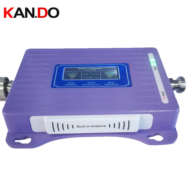 Built-in Antenna 2G+4G Repeater New Model LCD Display Dual Bands GSM DCS Booster Repeater DCS 900 1800mhz 4g Booster