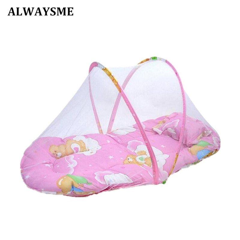 Back To Search Resultsmother & Kids Buy Cheap Cute Baby Mosquito Net Portable Folding Type Comfortable Infant Pad With Sealed Mosquito Net Baby Bedding With Pillow Always Buy Good Baby Bedding