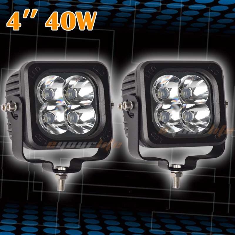 Eyourlife 4.6 дюйма 40W Сид квадратное пятно света 4WD 4x4 внедорожный ATV внедорожник грузовик Водонепроницаемый 99