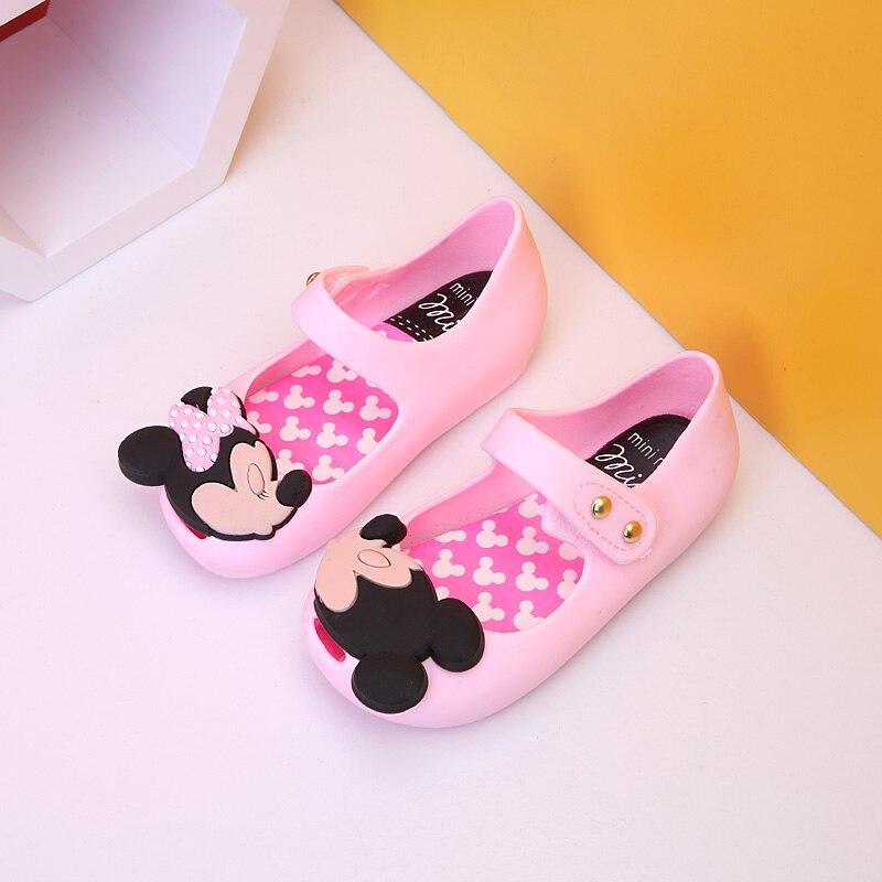 Mini Melissa 2018 kids Jelly Shoes Girls Boys Sandals Baby Melissa Sandals Cartoon Mickey Minnie Little Girl Sandals 14.5-17cm