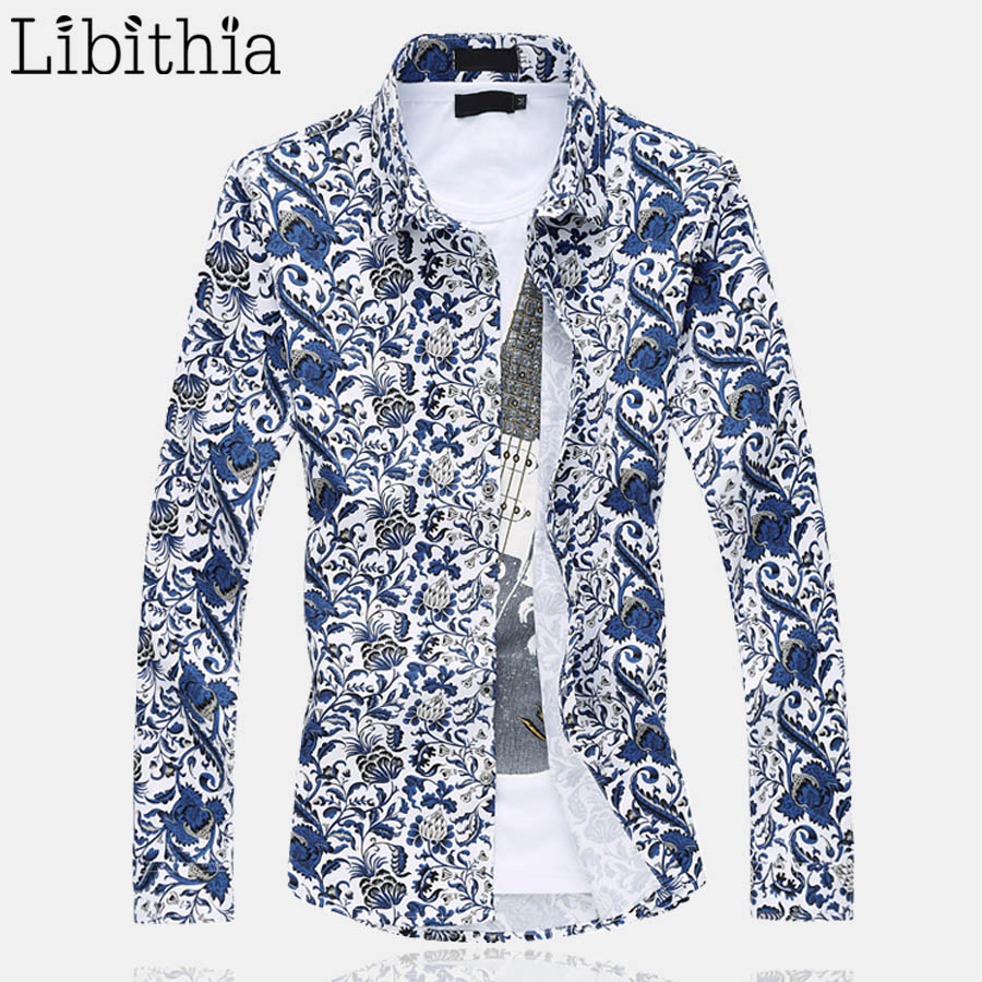 Compare Prices on Blue Floral Dress Shirt Men- Online Shopping/Buy ...