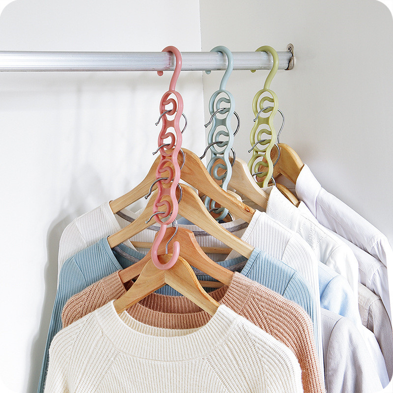 LASPERAL Hanger Scarf Wardrobe Clothes-Layer-Storage-Racks Circle Multifunction Plastic
