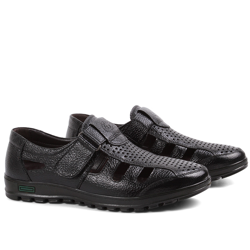 Bărbați de sex masculin casual Pescuit sandale autentic piele de - Pantofi bărbați - Fotografie 3