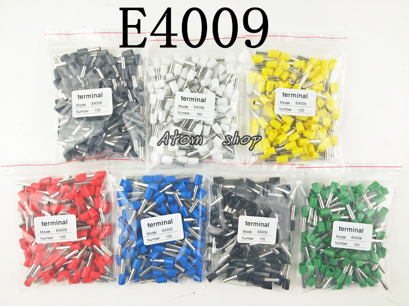 100pcs E4009 12 AWG 4.0mm2 Insulated Cord End Terminal Wire Ferrules куплю молоток клепальный ип 4009