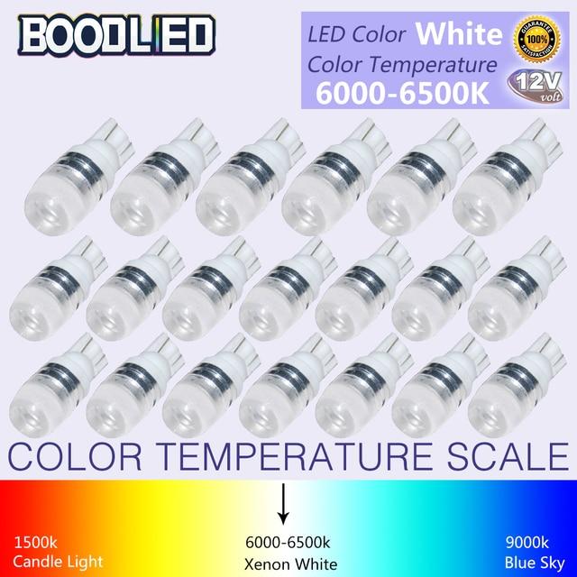20 pièces T10 LED T10 W5W 194 168 LED ampoule 12 V blanc lampe Auto LED voiture intérieur lumière Wedge porte lecture lumière Instrument lampe latérale