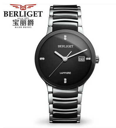 real sapphire real ceramic 50m water berliget wristwatches mens
