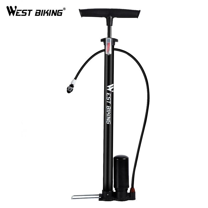 Batı 150Psi bisiklet pompası yüksek basınçlı ayak takviye pompası bisiklet lastik şişirme Presta Schrader vana bisiklet aksesuarları