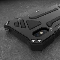 For Apple iphone X XR XS MAX 7 8 6 6s Plus 5S SE Case Doom Armor Carbon Fiber Metal Gorilla Tempered Glass Protect Phone Case